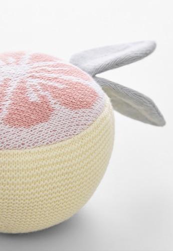 Grapefruit Rattle Toy