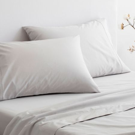 Sheridan Organic Cotton 300TC Percale Sheet Set dove