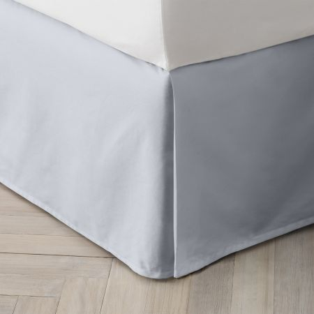 Organic Cotton 300TC Percale Bed Skirt in River