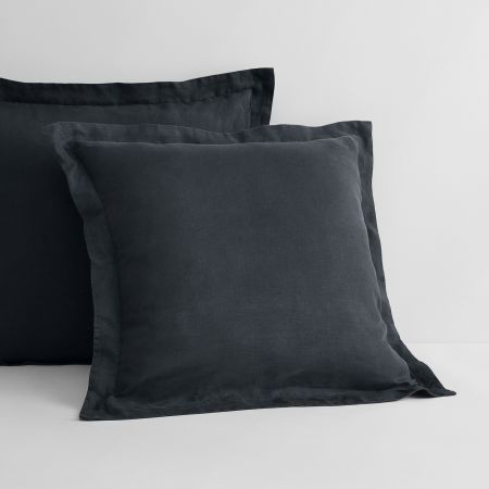 Sheridan Abbotson Linen European Pillowcase Carbon