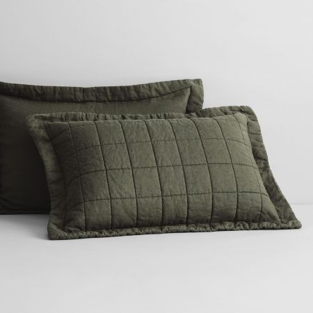 Abbotson Linen Pillow Sham in olive