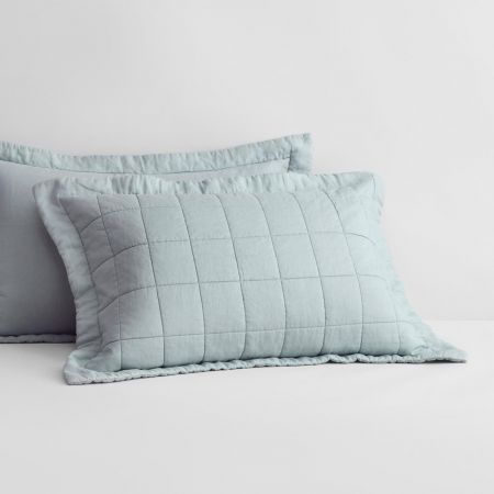 Abbotson Linen Pillow Sham in mint frost