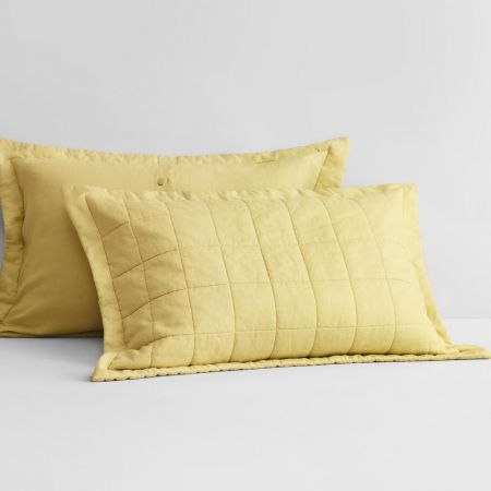 Abbotson Linen Pillow Sham in chartreuse