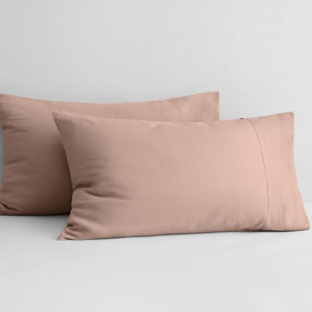 Abbotson Linen Pillowcase Pair in clay