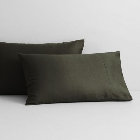 Abbotson Linen Pillowcase Pair in olive