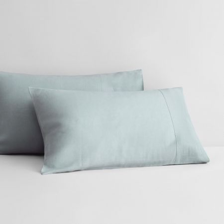 Abbotson Linen Pillowcase Pair in mint frost
