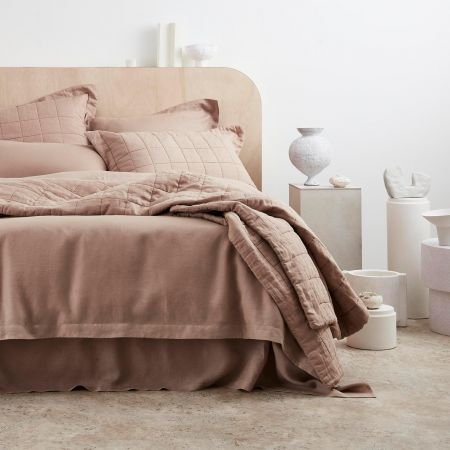 Abbotson Linen Bed Cover in clay