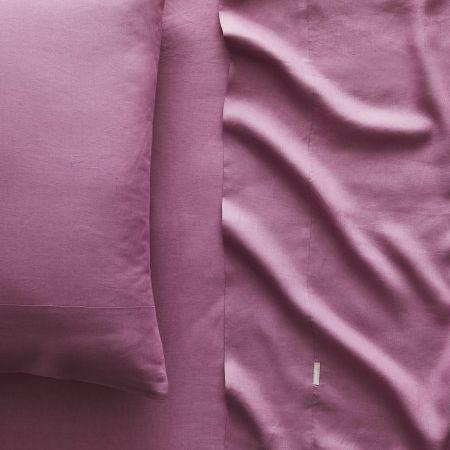 Abbotson Linen Fitted Sheet in crocus