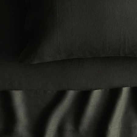 Abbotson Linen Fitted Sheet in olive