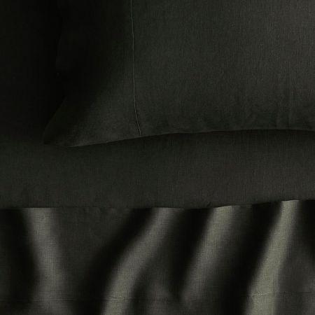 Abbotson Linen Flat Sheet in olive