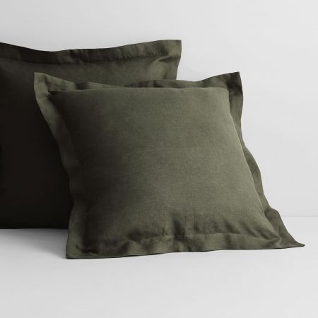 Abbotson Linen European Pillowcase in olive