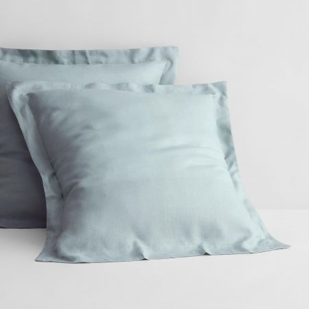 Abbotson Linen European Pillowcase in mint frost