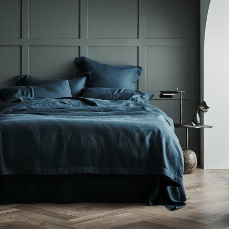 Sheridan Abbotson Linen Quilt Cover Evergreen