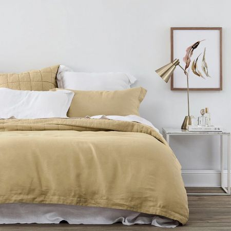 Sheridan Abbotson Linen Quilt Cover Honey
