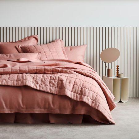Abbotson Linen Bed Cover in Granita