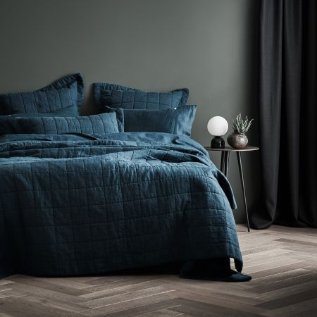 Sheridan Abbotson Linen Bed Cover Evergreen