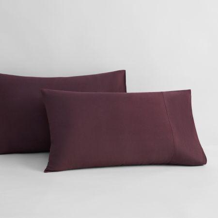 Sheridan Abbotson Linen Pillowcase Pair Plum