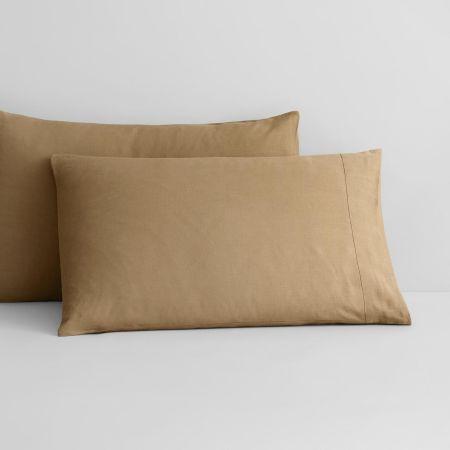 Abbotson Linen Pillowcase Pair in Cumin