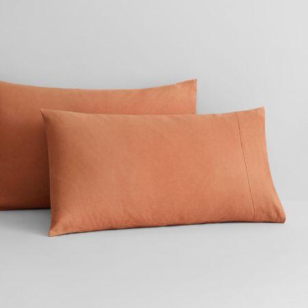 Abbotson Linen Pillowcase Pair in Maple