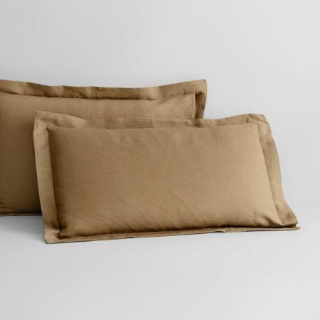 Abbotson Linen Tailored Pillowcase Pair in Cumin