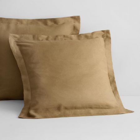 Abbotson Linen European Pillowcase in Cumin