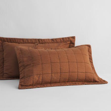 Sheridan Abbotson Linen Pillow Sham Tabac