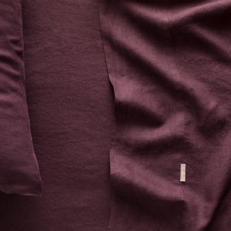 Sheridan Abbotson Linen Flat Sheet Plum