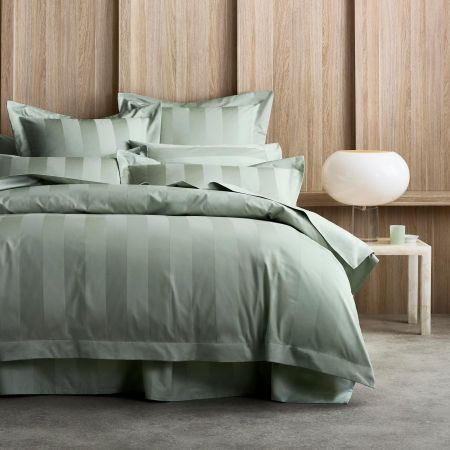 1200tc Masterson Quilt Cover in Spearmint