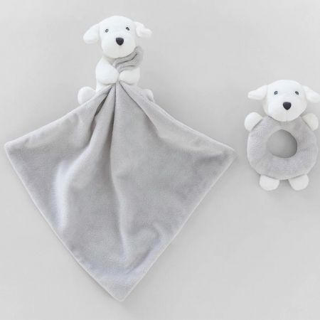 Sheridan Dillie Comforter &Teething Toy Gift Set Grey