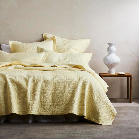 Beechwood Bed Cover in Buttercream