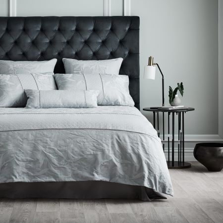 Sheridan Corniche Quilt Cover Frost Grey
