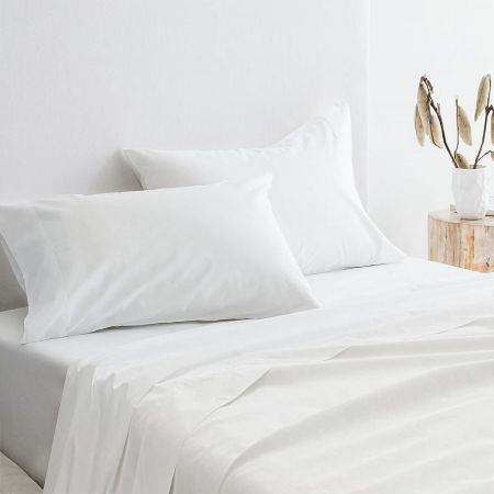 Organic Cotton 300TC Percale Pillowcase Pair