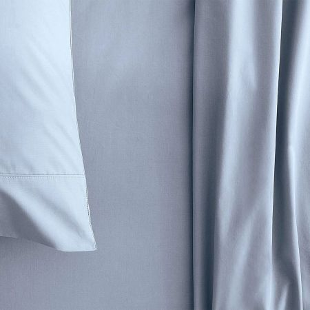 sheridan Organic Cotton 300TC Percale Sheet Set soft blue