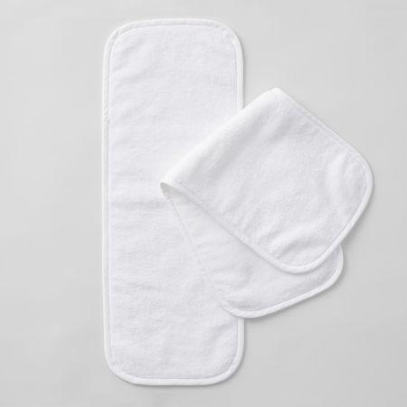 Sheridan Burping Baby Towel Pack White