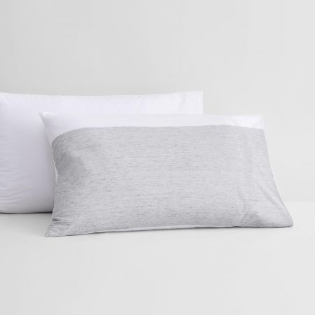 Hayle Pillowcase Pair in silver