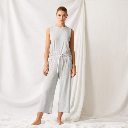 Tulla Womens Sleep Set in grey marl