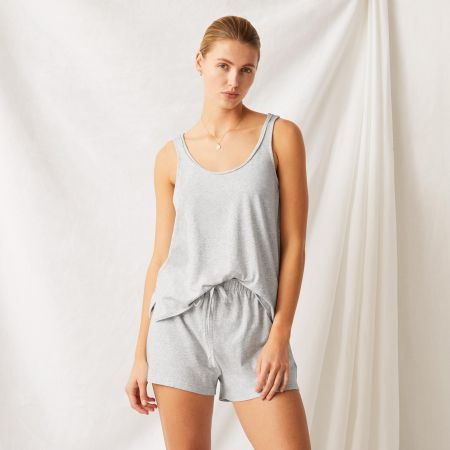 Willard Womens Sleep Set in grey marl