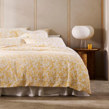 Naves Quilt Cover in Mango