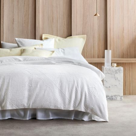 Upton Quilt Cover in White
