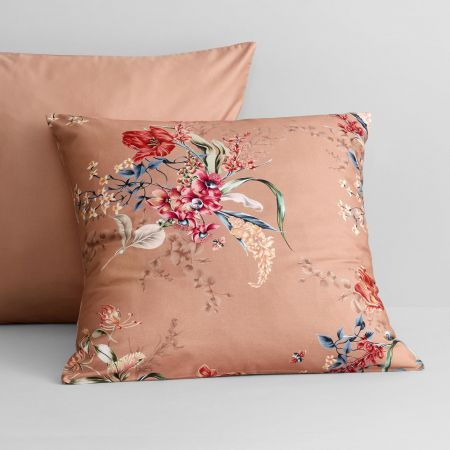 Cavella European Pillowcase in Guava