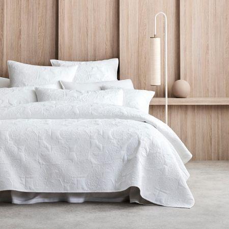 Dalbury Bed Cover in White