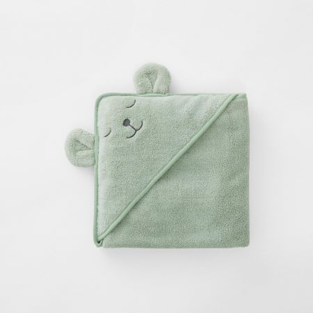 Harland Baby Hooded Towel in Spearmint