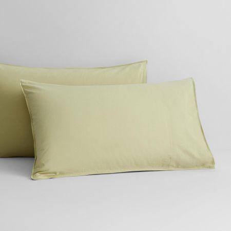 Onslo Pillowcase Pair in Asparagus