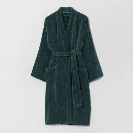 Sheridan quick dry luxury unisex bathrobe Forest