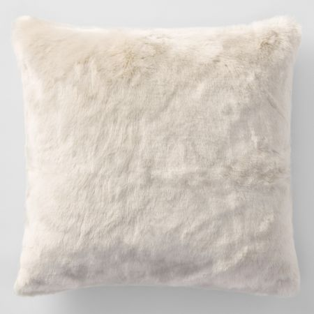 Sheridan Dalmar Faux Fur Cushion Oyster