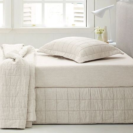 Abbotson Linen Quilted Bed Skirt