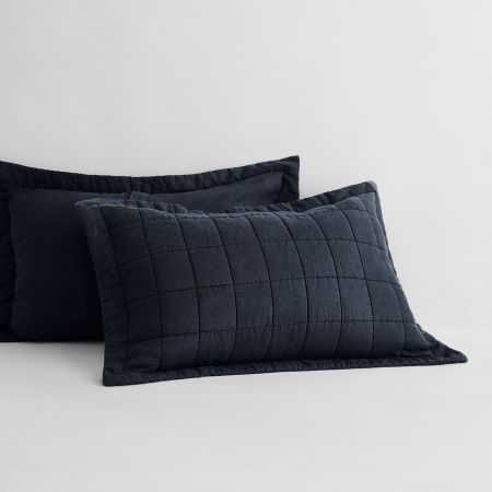 Sheridan Abbotson Linen Pillow Sham midnight