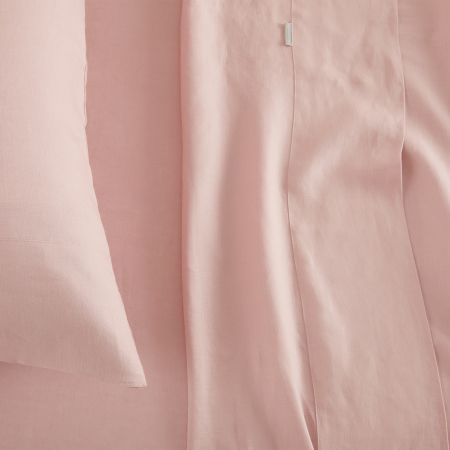 sheridan abbotson linen fitted sheet Blush