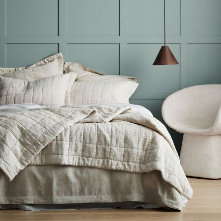Sheridan Abbotson Linen Bed Cover Flax