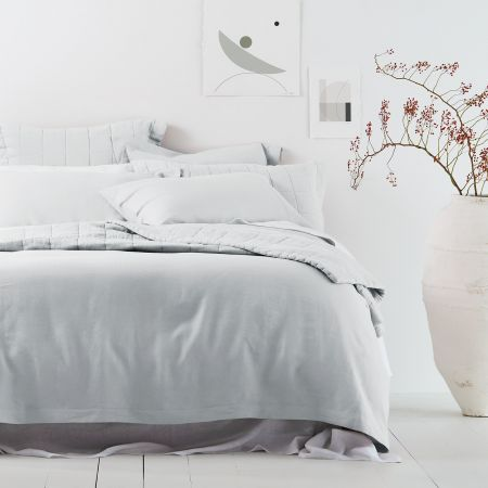 Sheridan Abbotson Linen Quilt Cover Silver